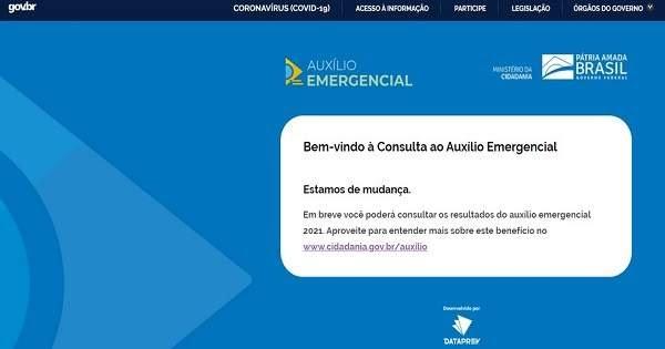 consulta dataprev auxilio emergencial 2021